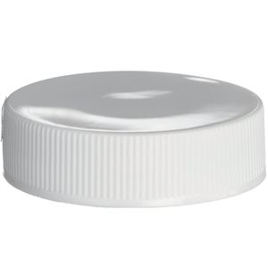 38-400 Continuous Thread Lined White P/P Plastic Closure - Lift N Peel Liner - Front View