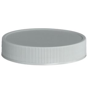58-400 Continuous Thread Unlined Gray P/P Plastic Closure  - Front View