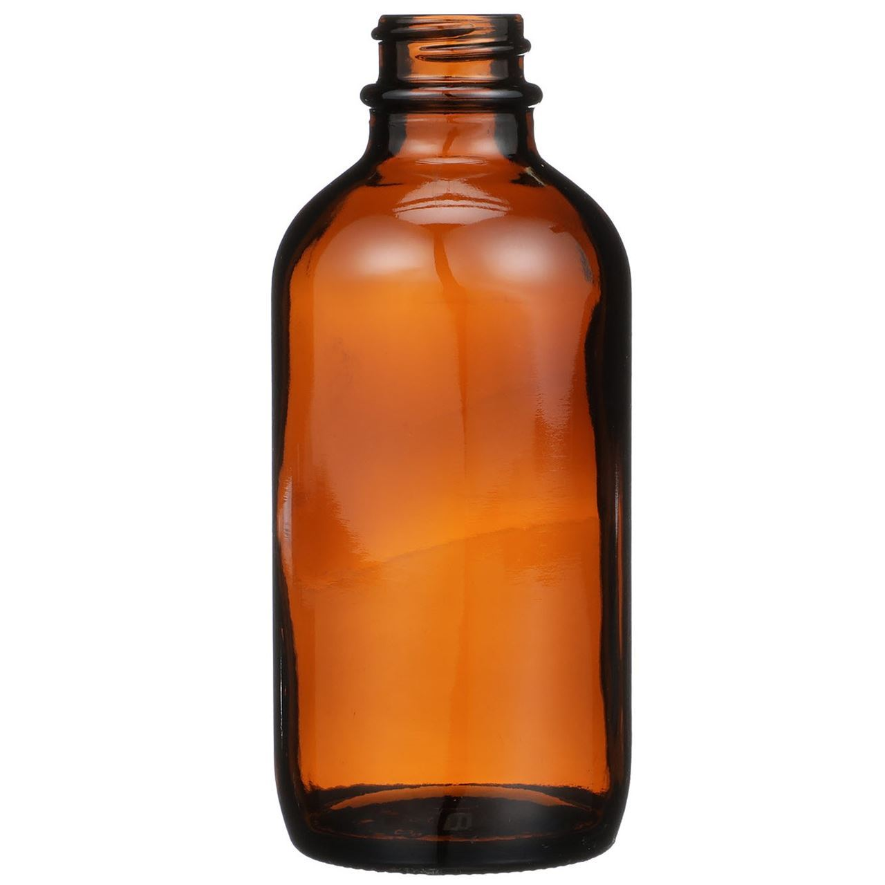 4 Oz Amber Glass Boston Round Bottle 22 400 Neck Finish