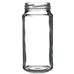 16 oz Clear Glass Round Paragon Jar - 63-2030 Lug Neck Finish - Front View
