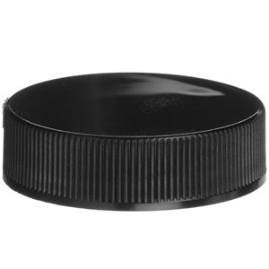 38-400 Continuous Thread Lined Black P/P Closure - PS22 Printed/F217 Liners - Front View