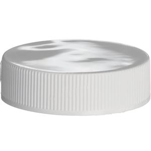 38-400 Continuous Thread Lined White P/P Plastic Closure - PS22 and F217 Liners - Front View
