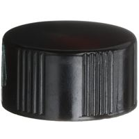 18-400 Round Phenolic Black Continuous Thread Closure - Front View