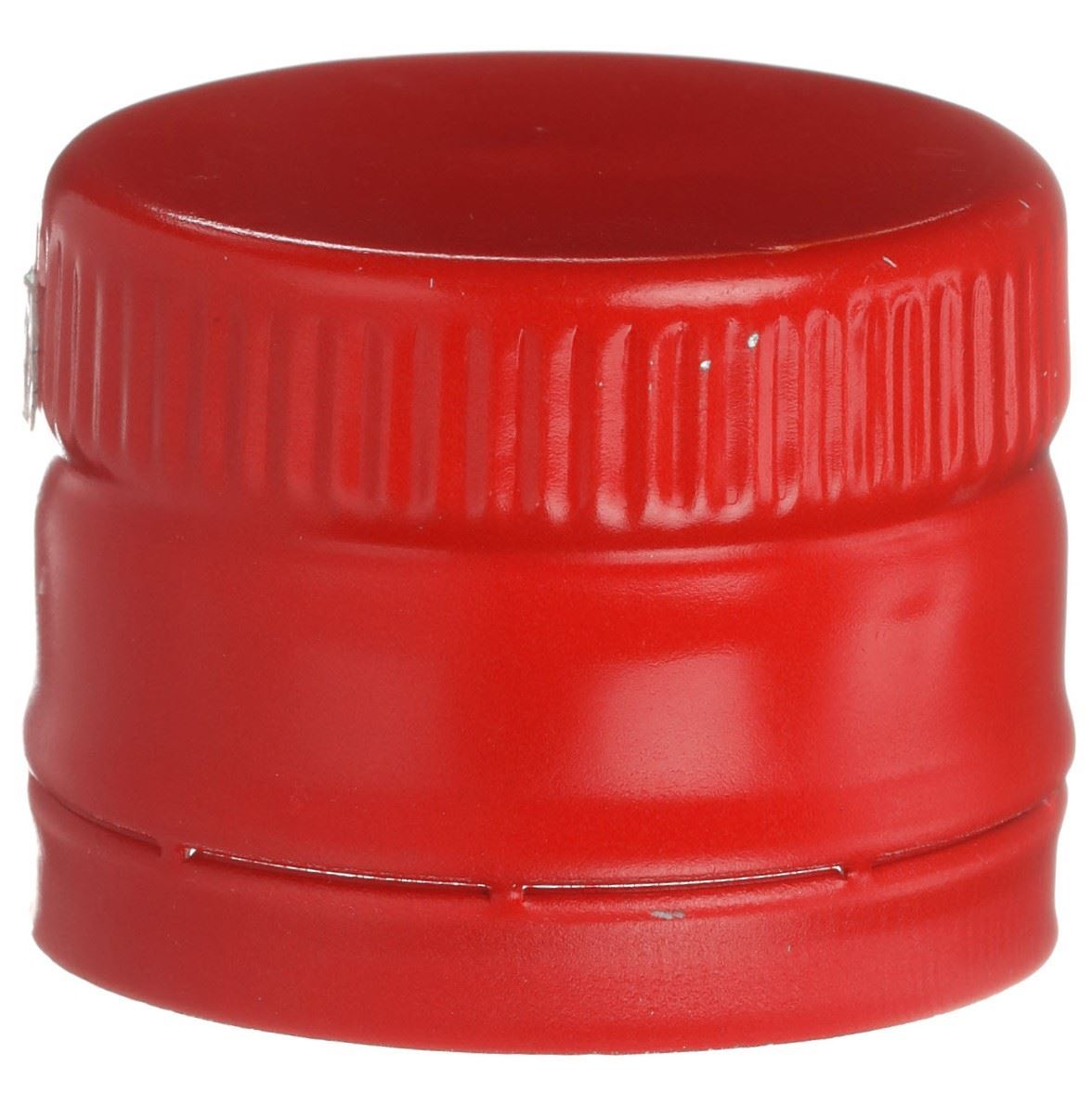 31 5 mm ROPP Tamper Evident Red Aluminum Closure - Includes SnapOn Pour  Fitment