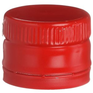 31.5 mm ROPP Tamper Evident Red Aluminum Closure - Includes SnapOn Pour Fitment - Front View