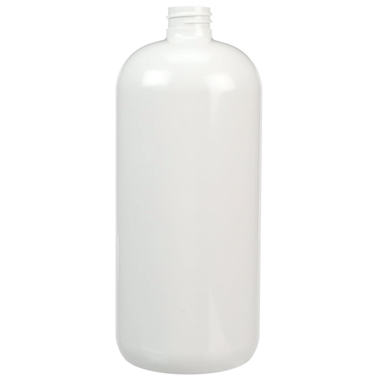 32 Oz White Pet Plastic Boston Round Bottle 28 410 Neck
