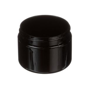 3 oz Black PET Plastic Jar Round
