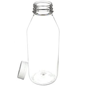32 oz PET Beverage Bottle with 48-400 White Tamper Evident Closure - Angled View