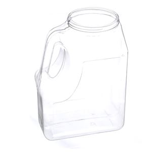 160 oz Clear PET Plastic Handleware Oblong Bottle
