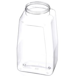 32 oz Clear PET Plastic Jar Oblong - 63-400 Neck Finish  - Angled View