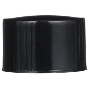 38-430 Buttress Continuous Thread Black Phenolic Closure - PE Cone Liner - Front View