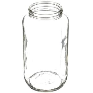 33 oz Clear Glass Round Jar - 70-405 Neck Finish - Angled View