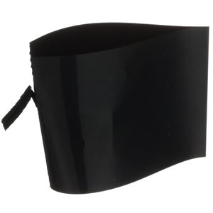 69mm x 50mm Black Gloss PVC Shrink Band - No Print  - Angled View