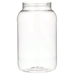 1 Gallon Clear PET Plastic Round Jar - 110-400 Neck Finish - Front View