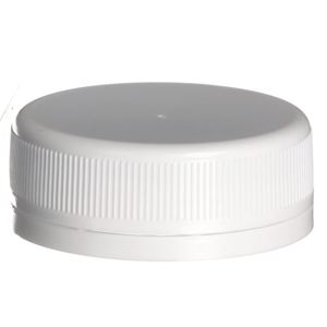 48 mm White Tamper Evident P/P Plastic Closure - SS-222 Plain Liner - Front View
