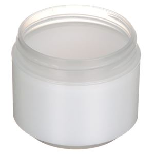 2 oz Natural P/S Outer P/P Inner Double Wall Jar - 58-400 Neck Finish - Angled View