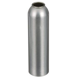 8 oz Silver Aluminum Round Aerosol Can - 2P - PAM 8460 Liner - Angled View