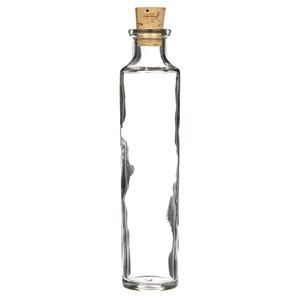 4 oz Clear Glass Cylinder Round Bottle - Cork Included View