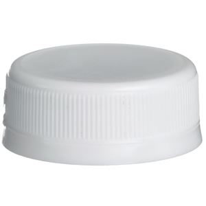 38 mm White P/P Plastic Tamper Evident Closure - Front View