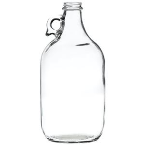 64 oz Clear Glass Round Handleware Jug - 38-405 Neck Finish - Front View