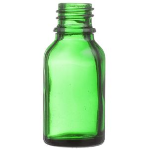15 ml Green Glass Euro Dropper Bottle - 18mm Neck Finish - Front View
