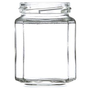 9 oz Clear Glass 12-Sided Jar - 63-2030 Lug Neck Finish - Front View