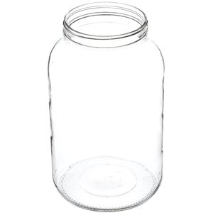 1 Gallon Clear Glass Round Jar - 110-405 Neck Finish - Angled View