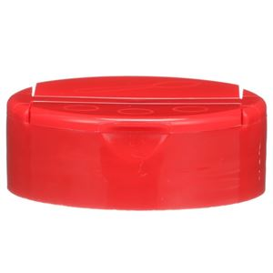 53-485 Dual Flip Top Dispensing Lined Red P/P Closure - Front View