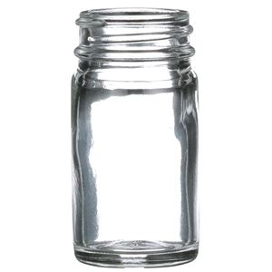 1 oz Clear Glass Round Jar - 33-400 Neck Finish - Front View