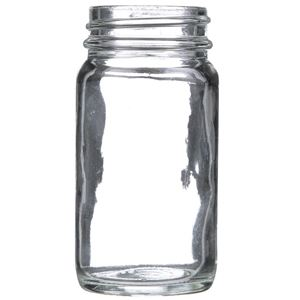 2 oz Clear Glass Round Wide Mouth Jar - 38-400 Neck Finish - Front View