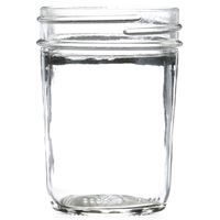 8 oz Clear Glass Round Wide Mouth Jar - 70-450 Neck Finish- Front View