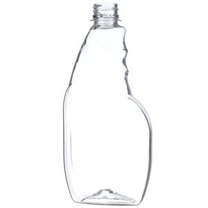 16 oz Clear PET Plastic Pistol Grip Sprayer Bottle - 28-400 Ratchet Neck Finish - Front View