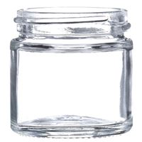 1 oz Clear Glass Round Jar - 43-400 Neck Finish - Front View