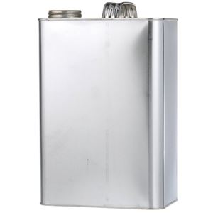 1 Gallon Metal F-Style Oblong Can - 1-3/4 Inch Delta Neck Finish  - Front View