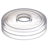 24 mm Natural LDPE Plastic SnapOn Orifice Reducer - Fits Bottle with 24-490 Neck Finish - Angled View
