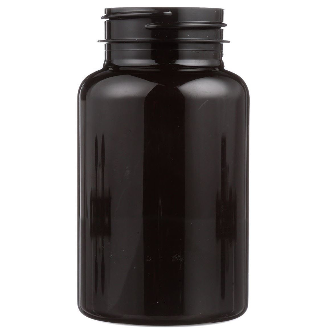 225 Cc Dark Amber Pet Plastic Round Packer Bottle 45 400