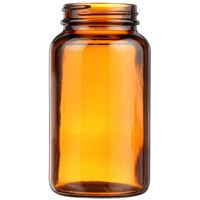 300 cc Round Amber Glass Packer Bottle