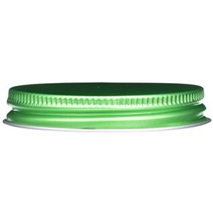 58-400 Continuous Thread Green Metal Lined Closure - Foam Liner - Side View