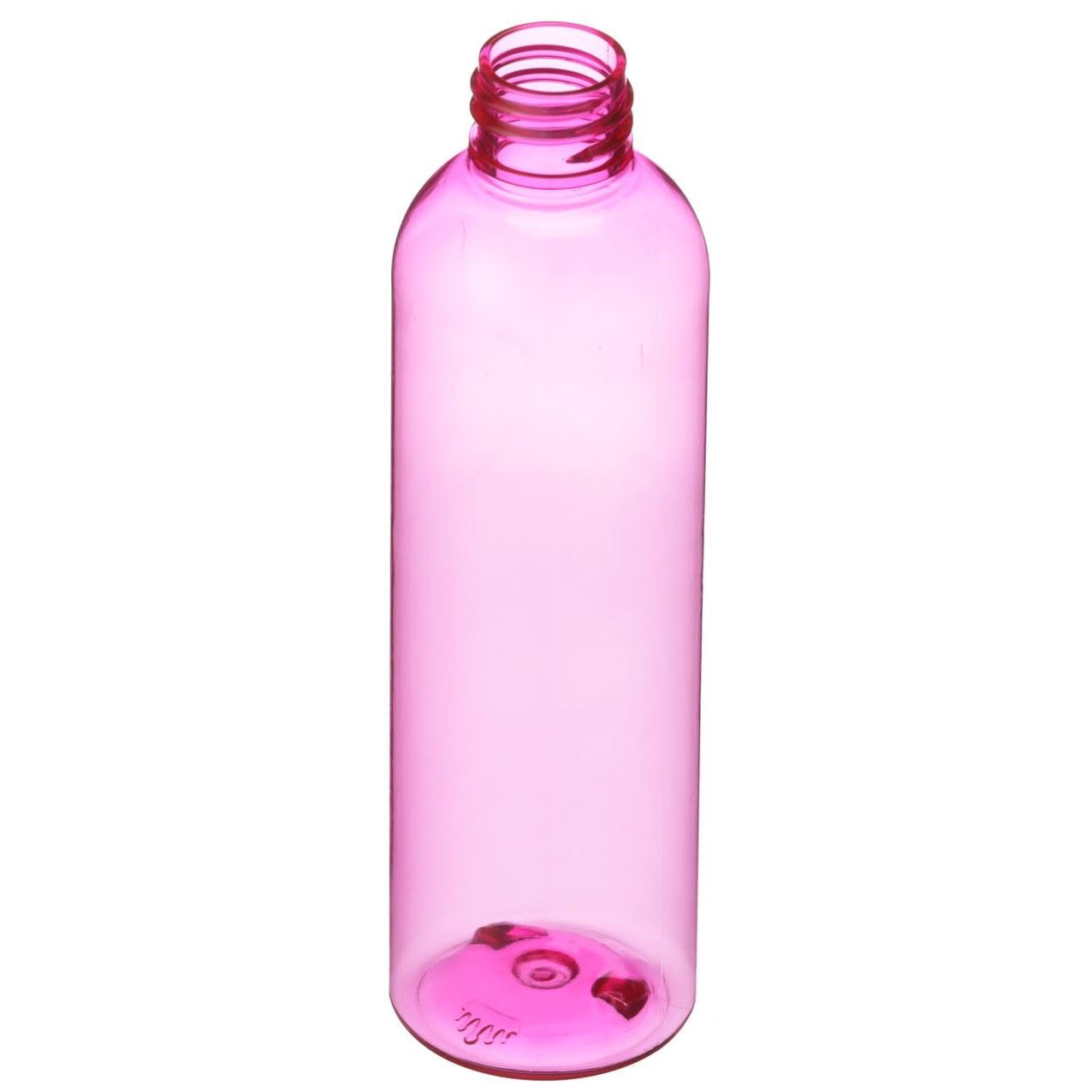 71de22b904 360 Product Spin Icon 4 oz Pink PET Plastic Bullet Round Bottle - 20-410  Neck Finish - Angled ...