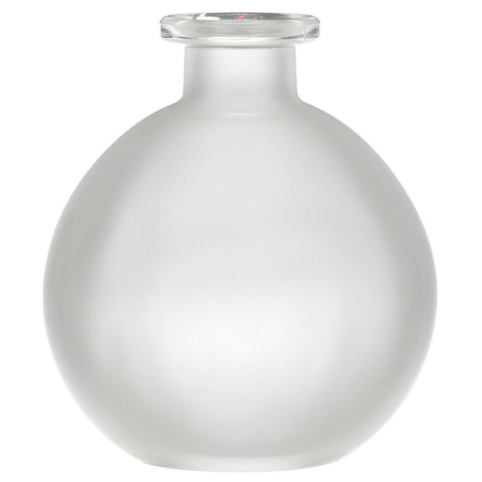 250 Ml Frosted Glass Cork Top Round Spherical Ball Bottle