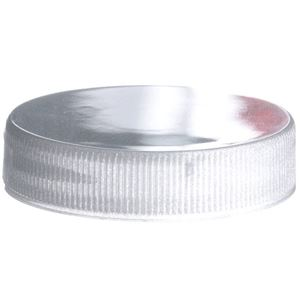 45-400 Continuous Thread Pearl Silver P/P Plastic Lined Closure - PS-22 Liner - Front View