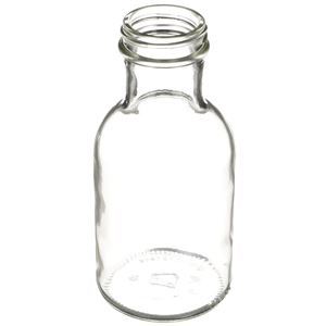 8 oz Clear Glass Stout Decanter Bottle - 38-405 Neck Finish - Angled View