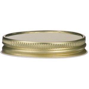 58-400 Continuous Thread Lined Gold Metal Closure - Front View