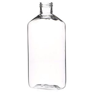8 oz Clear PET Plastic Oval Straight Sided Bottle - 24-400 Neck Finish - Front View