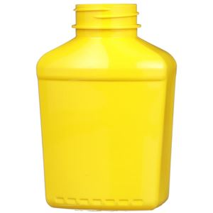 9 oz Yellow PET Plastic Oblong Reverse Tapered Bottle - 38-400 Neck Finish - Front View