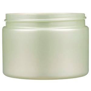 12 oz Pearl Green PET Plastic Single Wall Round Jar - 89-400 Neck Finish - Front View