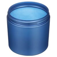 14 oz Pearl Blue PET Plastic Straight Sided Round Jar - 89-400 Neck Finish - Angled View
