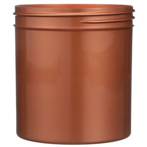 16 oz Pearl Copper PET Plastic Straight Sided Round Jar - 89-400 Neck Finish - Front View