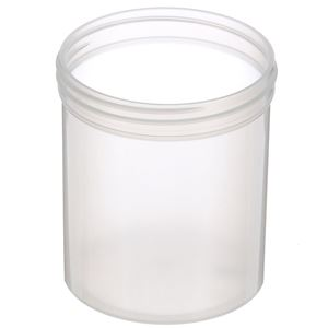 16 oz Natural P/P Plastic Round Jar - 89-400 Neck Finish - Angled View