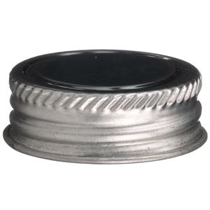 1-1/4 Inch Continuous Thread Lined Metal Alpha Closure - Solvseal Liner - Front View